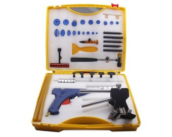 Harga Super PDR Dent Repair Tool Set with Box (black dent lifter tool kit)