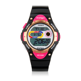 Harga Pasnew 2001D Children Watch Electronic and Quartz Sport Casual Watch Waterproof 100M (Black) - intl