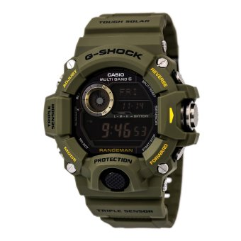 Harga CASIO G-Shock GW-9400-3 RANGEMAN Series Men`s Watch Green Tough Solar Triple Sensor Multi-Band 6 Atomic Timekeeping