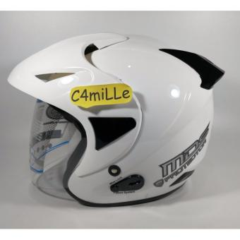Harga HELM MDS PROTECTOR SOLID WHITE HALF FACE
