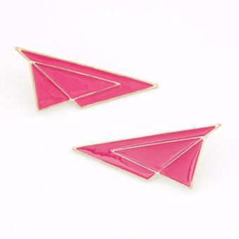 Harga LRC Anting Triangle Shape Alloy Stud Earrings
