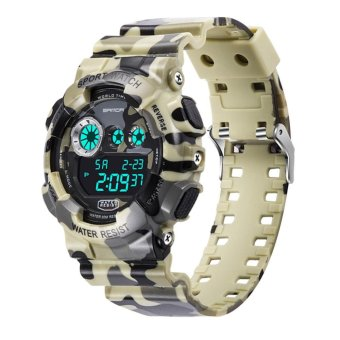 Harga Digit Electronic Waterproof Military Sports Camouflage Watch for SANDA (2) - intl