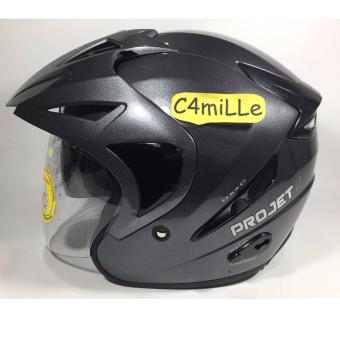 Harga HELM MDS PROJET 2 SOLID GRAPHIC METALIC DOUBLE VISOR HALF FACE