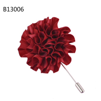 Harga Flower Floral Lapel Pin Stick Tie Brooch Boutonniere Handmade Men Accessories Wine Red