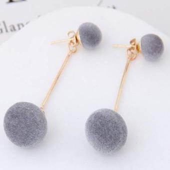 Harga Cannies Anting Tusuk PomPom double fuzzy balls