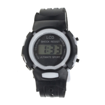 Harga Coconie Boys Girls Student Time Sport Electronic Digital LCD Wrist Watch Black