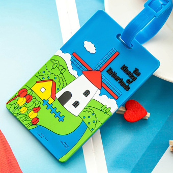 Harga Yika Cartoon Silicone Checked Luggage Tag Boarding Card (#5)