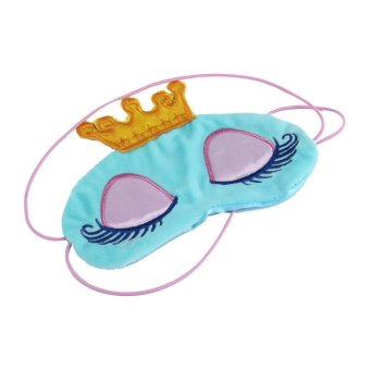 Harga Princess Crown Fantasy Eyes Cover Travel Sleeping Blindfold Shade Eye Mask Blue