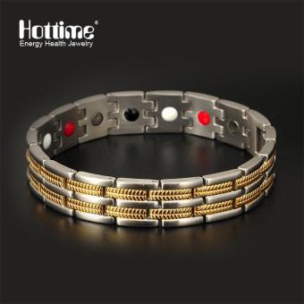 Harga Bio Health Magnetic Stainless Steel Bracelet / Healthy Toutmaline Germanium Stainless Steel Energy Bracelet With FIR 10113 - intl