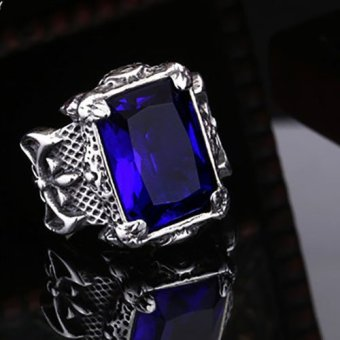 Harga Fans Cincin Dark Blue Gemstone Ring