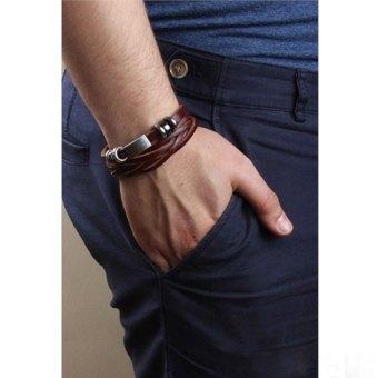 Popular Charm Leather Source · Fashion Jewelry Source Gelang Pria Gelang Wanita Gelang .