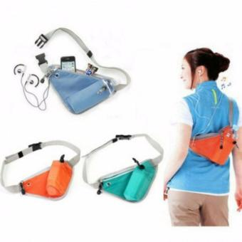 Harga Mini sling bag Tas Selempang Segitiga Multinfungsi Travel / Running Sling Bag Biru