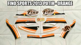 Harga Striping Fino Sports 2013 Putih - Orange