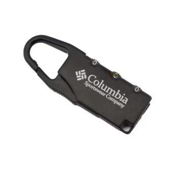 Columbia Gembok Koper Numeric Code Lock Kunci Koper Kombinasi - Black