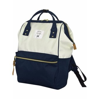 Harga 【Ship from Japan】[Anello] Backpack Sucket Backpack AT-B0193A       White × navy - intl