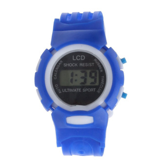 Harga Coconie Boys Girls Students Time Sport Electronic Digital LCD Wrist Watch Blue