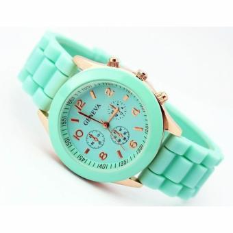 Harga Jam Tangan Geneve Ladies Cosmo Full Colour - Hijau Tosca