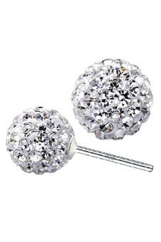 Harga OEM 925 Silver Women Shamballa Disco Ball Earrings New