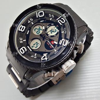 Swiss Army Dual Time - Jam Tangan Pria - Stainless Steel - SA 040404