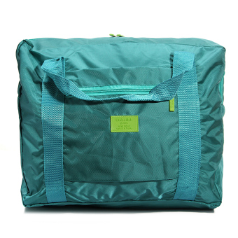 Harga Big Travel Foldable Luggage Bag Clothes Storage Organizer Carry-On Duffle Bag Green Fashion