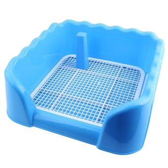 Harga Dog Indoor Pet Training Potty Toilet Pad Pee Fence Tray (Blue) - intl