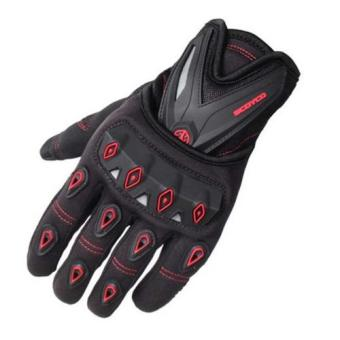 Harga Fox MC10 Sarung Tangan Sepeda Motor Touring Tour Bikers Bike Gloves Sports Outdoor Full Hitam Merah