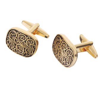 Harga MagiDeal Mens Fashion Roman Totem Cufflinks Gold