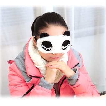Harga New Fashion panda shape Sleep Eye Mask Shade Rest Relax Sleeping Blindfold - intl