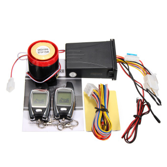 Harga 2Way Motorcycle Alarm Remote Control Engine Start Security System LCD - Intl