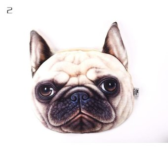 Harga BUYINCOINS 30cm x 22cm 3D Animal Car Nordic Chair Headrest Pillow Creative Personality Cat Nap Occipital Cute Dog Cover - intl