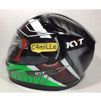 Harga HELM KYT K2 RIDER SPOTLIGHT BLACK GREEN FLUO DOUBLE VISOR FULL FACE