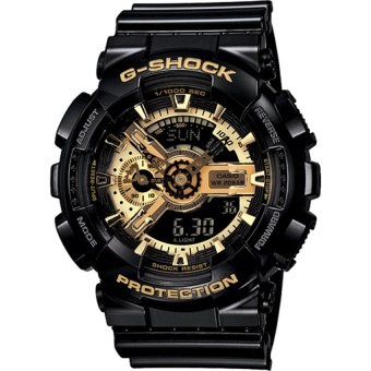 Harga Casio G Shock Black Gold Mens Watch GA-110GB-1A(Multicolor) intl