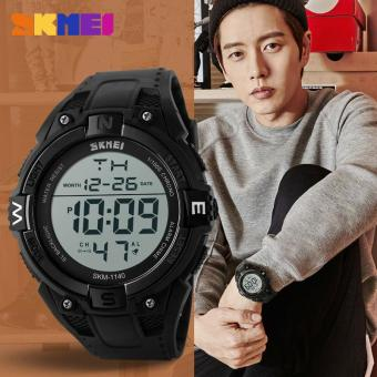 Harga [100% Genuine] Skmei 1140 Men's Fashion Casual Military Army Wrist Watches Digital Sports Watch Men's Waterproof Electronic Outdoor Sports Watch - intl