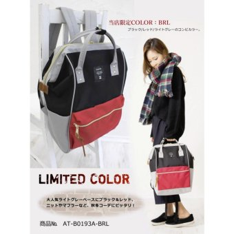 Harga Anello Tas Ransel Backpack Polyester AT-B0193A Large Limited Color - Black Red