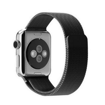 Harga GAKTAI Replacement Milanese Magnetic Loop Stainless Steel Strap Watch Bands For Apple Watch iWatch 38MM - Black - intl