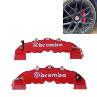 Harga 2 PCS Brembo High Performance Brake Decoration Caliper Cover Medium Size(Red) - intl