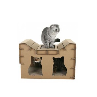 Harga PET DAYS Gato Feline House Cat House With Scratcher - intl