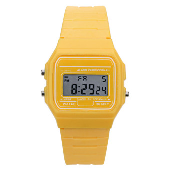 Harga Women Electronic Led Digital Multifunction Sport Watch(Yellow) - Intl
