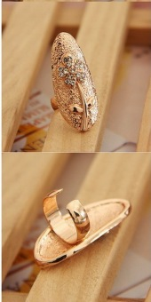 Harga Anne - NR2 - Nail Ring - Gold