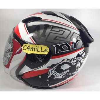 Harga Helm KYT DJ Maru Word GP Ximeon Xavier White Red
