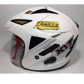 Harga HELM KYT SCORPION KING SOLID WHITE DOUBLE VISOR HALF FACE