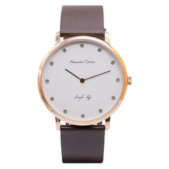 Harga Alexandre Christie ACF-8468-MHLRGSL Pria Leather - Brown