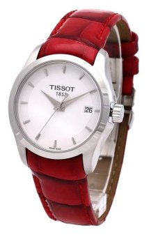 Harga Tissot Unisex Red Leather Strap Watch T0352101601101