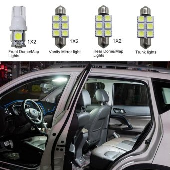 Harga For Hyundai Tucson Convenience Bulbs Car Led Interior Light C10W W5W Replacement Bulbs Dome Map Lamp Light Bright White 7 PCS Per Set - intl