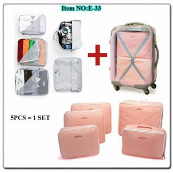 Harga 5 in 1 bags in bag travelling ( dpt 5 bag ) travel organizer tas set
