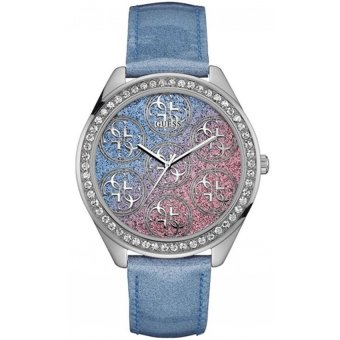 Guess - Jam Tangan Wanita - Silver-Putih - Strap Biru - W0753L1