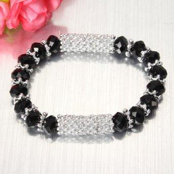 Fashion Charm Women Crystal Glass Beaded Stretch Friendship Bracelet Bangle Hot
