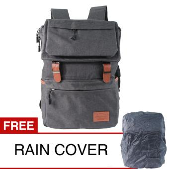 Harga Prosport 643-17 Backpack + Rain Cover - Black