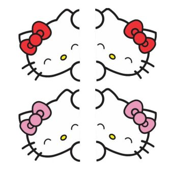Harga Tokomonster T25 Stiker Hello Kitty Car Front Door Sticker Decal