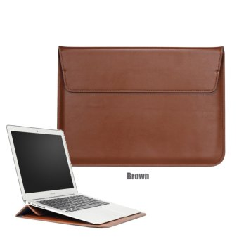 Harga Bora 13.3'' Laptop Case Sleeve PU Leather Waterproof Case Withe Stand Function Protective Carrying Bag for MacBook Air/Pro Retian,ASus,Dell, Fujitsu, Lenovo, HP, Samsung, Sony, Toshiba - intl
